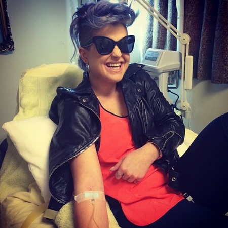 Kelly Osbourne gets a vitamin injection to keep healthy - Instagram picture - celebrity health and beauty secrets - celebrity news - handbag.com