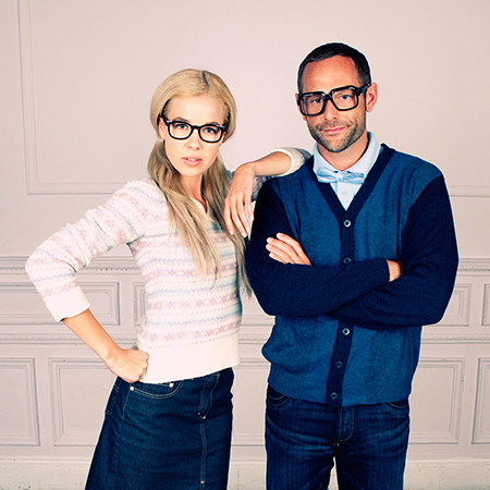 new dating app lets you only date geniueses - couple wearing glasses - evening bag - handbag