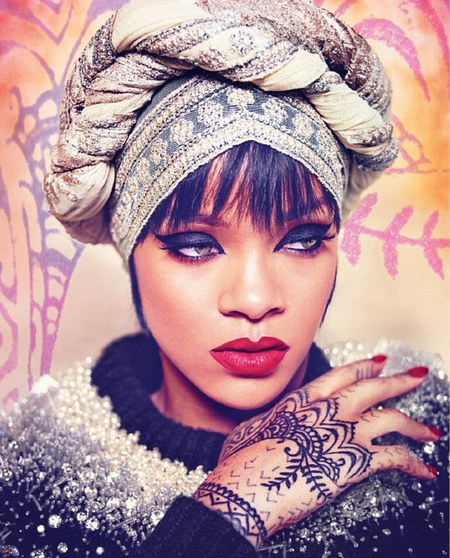 Rihanna for Harpers Bazaar Arabia - fashion magazine cover - fashion shoot - covers up - Instagram - celebrity fashion news - handbag.com