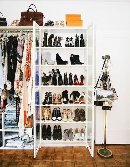 How to store and organise your handbags in your wardrobe - wardrobe decluttering - fashion organisation - wardrobe how to - home ideas - feature - shopping bag - handbag.com