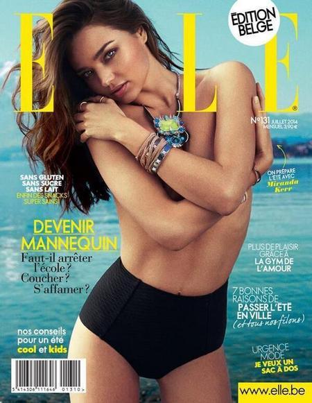 Miranda Kerr - topless picture - elle belgium - handbag.com