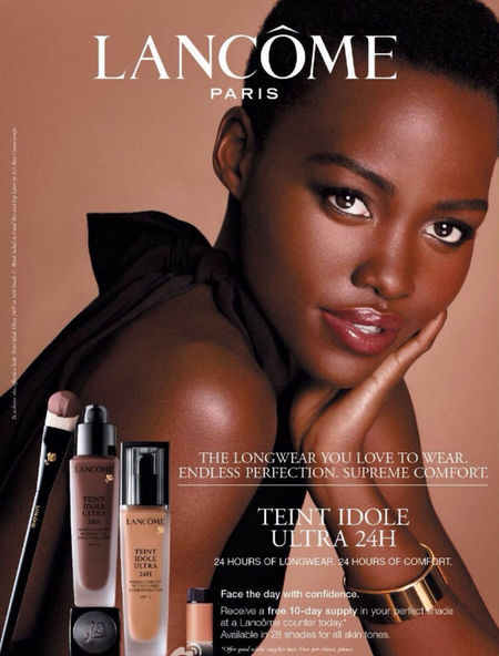 First look at Lupita for Lancome's advert campaign - Lupita Nyong'o beauty campaign - beautiful celebrities - beauty news - beauty bag - handbag.com