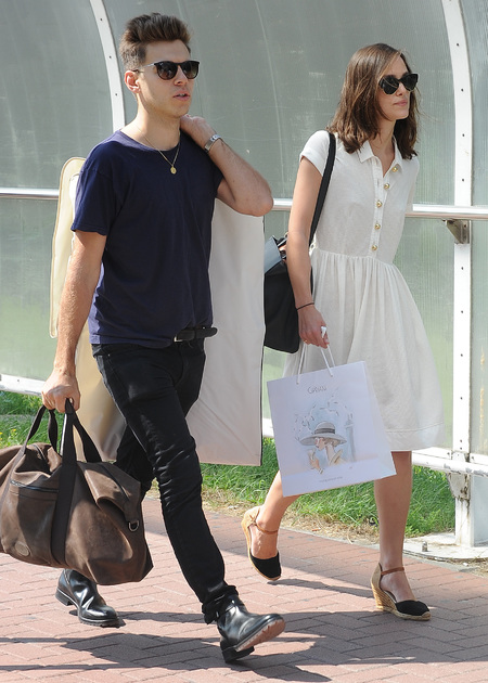 Keira Knightley and husband James Righton at Venice film festival - celebrity couples - celebrity style - fashion feature - handbag.com