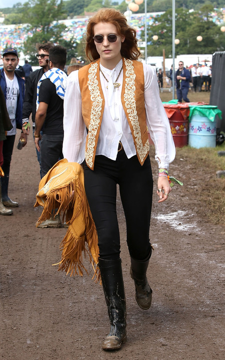 Florence Welch at Glastonbury 2014