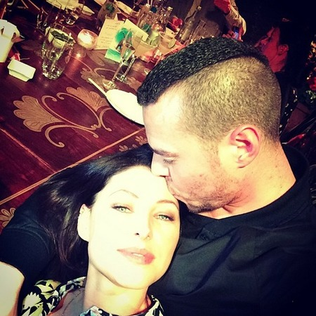 emma willis-matt willis-cute celebrity couple-married-anniversary-kissing her head-handbag.com