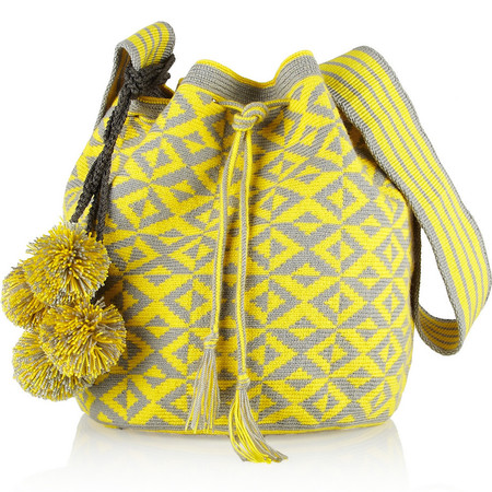 sophie anderson knitted yellow bag - best yellow bags to buy now - shopping bag - handbag