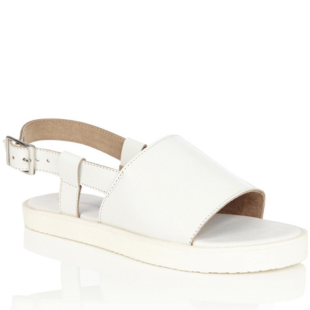 Warehouse white sandals - get glam slider sandals - like beyonce from high street - shopping feature - handbag.com