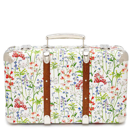 Liberty flower print mini suitcase - travel suitcase - hand luggage - buy it on your break - white case - Liberty of London - shopping bag - handbag.com