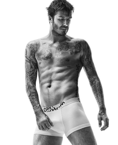 David Beckham for H&M underwear - David Beckham naked picture - David Beckham pants - topless celebs - handbag.com