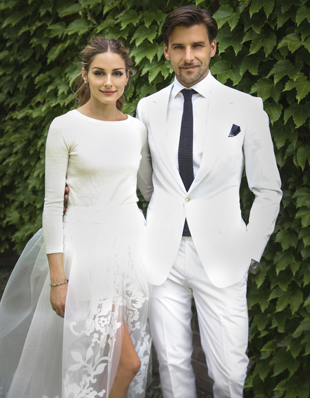 olivia palermo-wedding dress-civil ceremony-husband johannes huebl-carolina herrera skirt and shorts-celebrity wedding-handbag.com