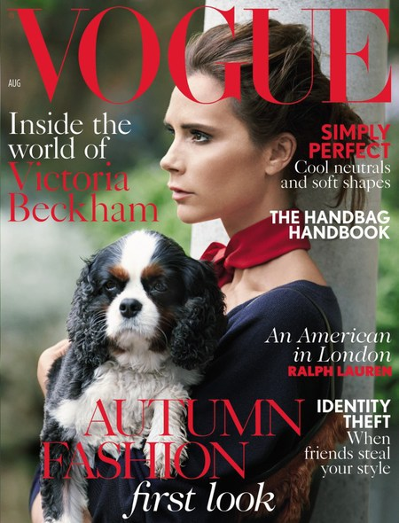 victoria beckham for Vogue - cover - patrick demarchelier - handbag.com