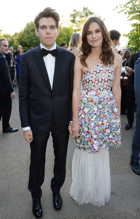 Keira Knightley and James Righton - the serpentine gallery summer party - couple - cute - husband - multi coloured dress - handbag.com