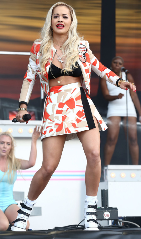 Rita Ora performing at Wireless 2014