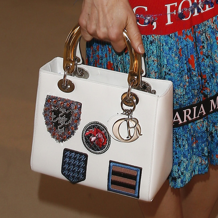 Actress Julia Malik's Dior badge bag