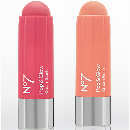 boots no7-pop and glow-cream blush stick-pink-peach-summer makeup trends-easy way to do blusher-handbag.com