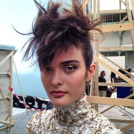 chanel paris haute couture fashion week-autumn winter 2015-big hairstyle-updo-feather fringe-90s boyband hairstyle-model sam rollinson.jpg