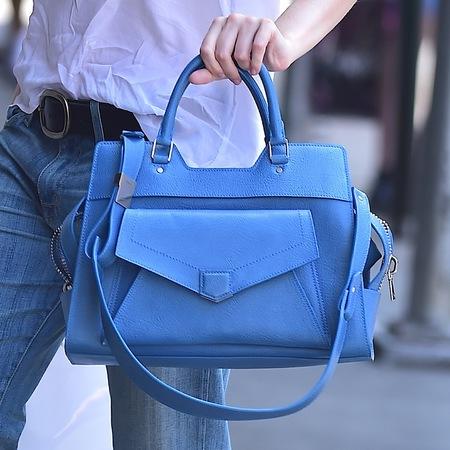Dakota Fanning's blue Proenza Schouler