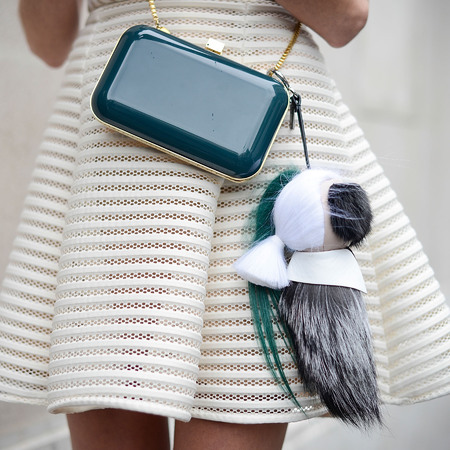 Helena Bordon's Fendi Karl pom pom