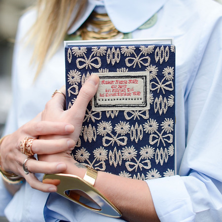 Helena Bordon's Olympia Le Tan book clutch