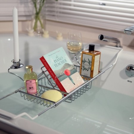 handpicked collection-bath caddy-wine glass holder-book holder-how to have the best bath ever-handbag.com