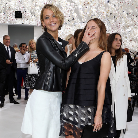 Jennifer Lawrence and Emma Watson - dior couture - face palm - jokes - fandom - tired of it - handbag.com
