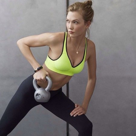 Karlie Kloss in Nike sports bra