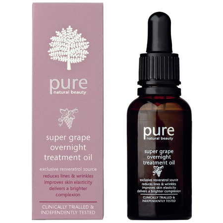 marks and spencer-pure super grape skincare collection-natural ingredients-reservatol-recycled wine grapes-face oil-handbag.com