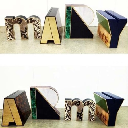 mary katrantzou-resort 2015 handbag collection-alphabet-letter clutch bags-mary army-handbag.com