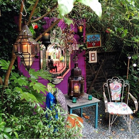 Matthew Williamson woodland party - how to throw a designer garden party - lighting and lights - handbag.com
