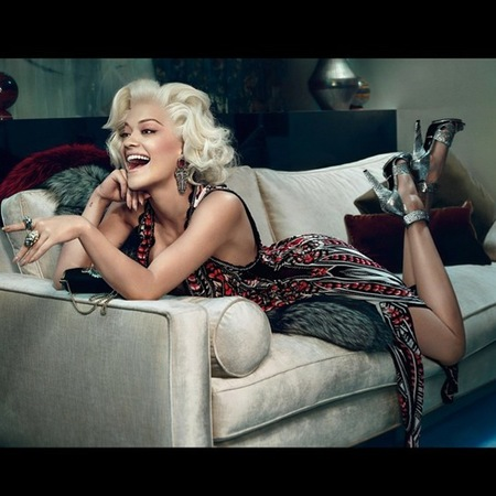 rita ora for roberto cavalli-first pictures-ad campaign-marilyn monroe hair-handbag.com