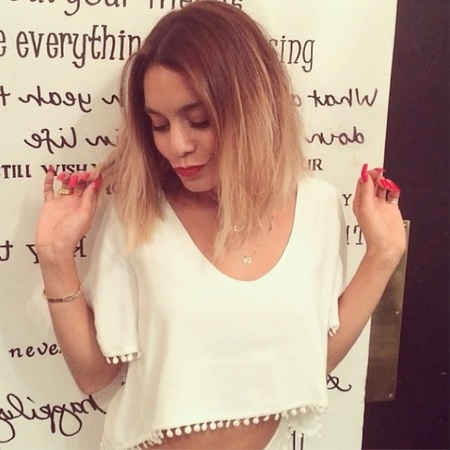 vanessa hudgens - new bob - instagram - choppy bob - hairstyle of the summer - beauty bag - handbag.com