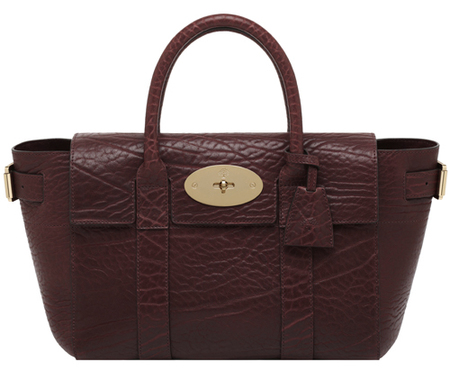 Mulberry Bayswater Buckle Shrunken Calf Oxblood-autumn winter 2014-handbag.com