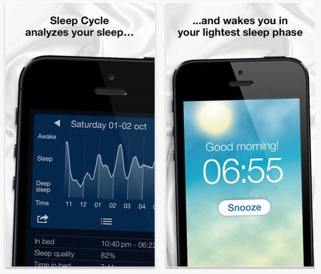 The best apps for health, wellness and calm -sleep sycle alarm clock - sleep tracker - handbag.com