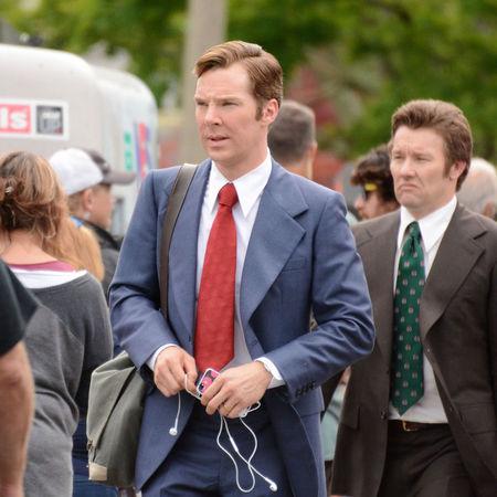 Benedict Cumberbatch - new pictures - set of black mass - suit - handbag.com
