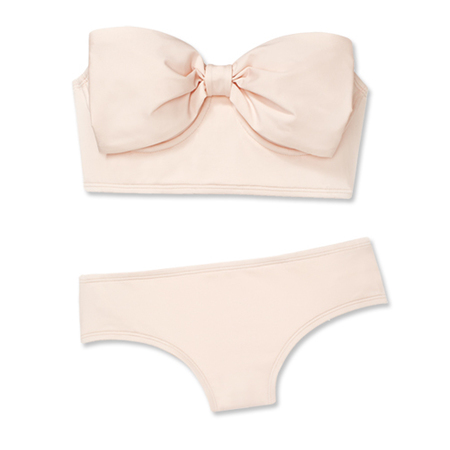 kate spade to launch swimwear collection - pink bow bikini - shopping bag - handbag