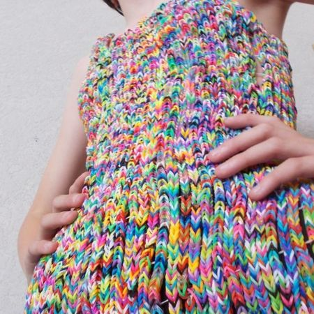 loom band dress - £170000 - handbag economics - how many designer bags could we buy - shopping feature - handbag.com