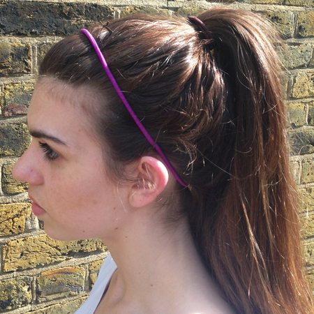 The best hairstyles to wear to the gym - head band with clips high ponytail - handbag.com
