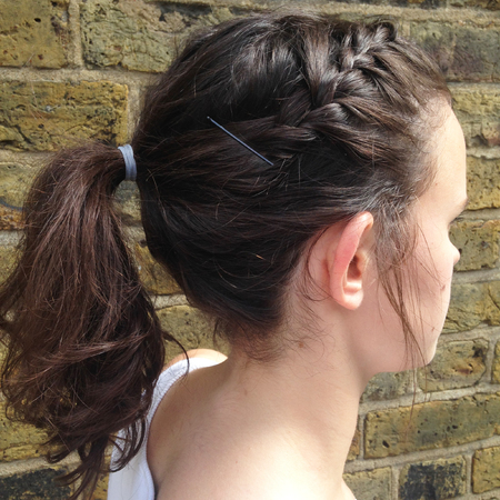 The best hairstyles to wear to the gym - side plait and high ponytail - handbag.com