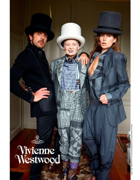 vivienne westwood-autumn winter 2014 ad campaign-stella schnabel-juergen teller-suits and top hats-handbag.com