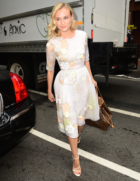 Diane Kruger outside The Tonight Show