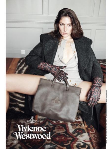 vivienne westwood-autumn winter 2014 ad campaign-stella schnabel-juergen teller-grey handbag-handbag.com