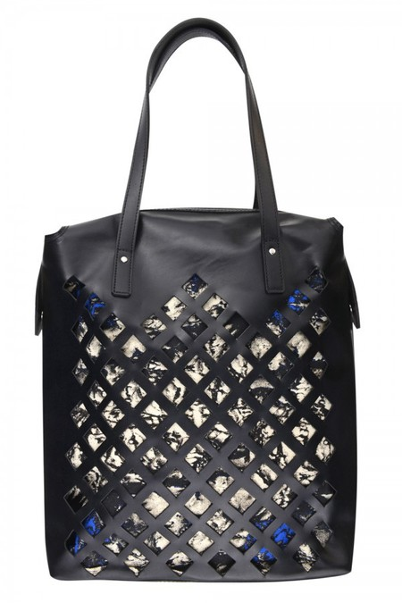 topshop aw14 bags - black cutout shopper - shopping bag - handbag