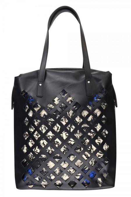 topshop aw14 bags - black cutout shopper - shopping bag - handbag