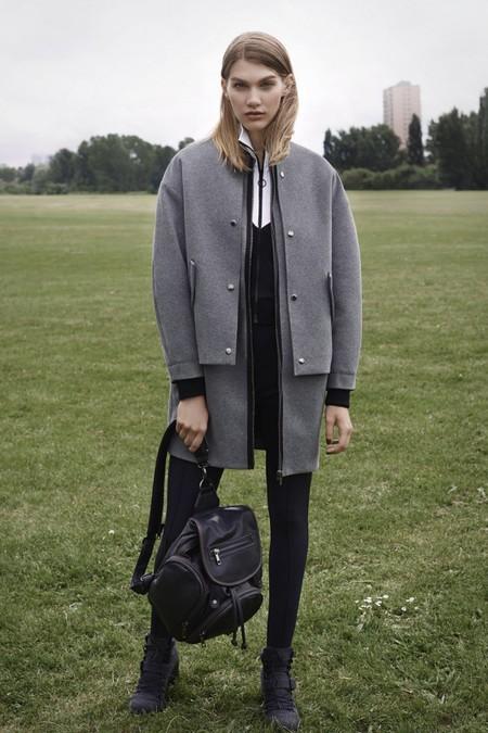 topshop aw14 bags - model with backpack - shopping bag - handbag
