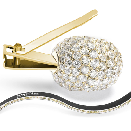 A gold and diamond nail clipper set costing £1 million is just what the little cherub needs.