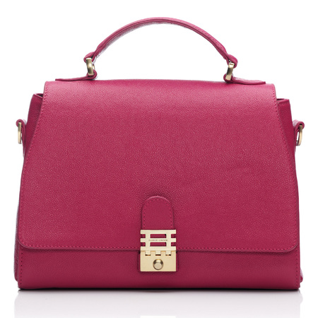 Florian London - Vienna Top Handle Bag - bright pink - buy it on your break - handbag.com