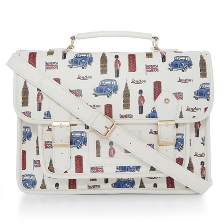 primark celebrates britain with bags - london bus satchel - shopping bag - handbag