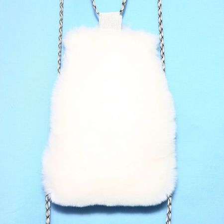 somewhere nowhere white fur backpack- Shop the best handbags from Clueless - shopping bag - handbag