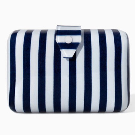 zara striped minaudiere - best nautical handbags - shopping bag - handbag
