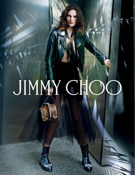 jimmy choo aw14 campaign - furry bag - shopping bag - handbag